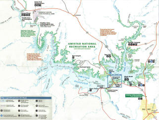 Map of Lake Amistad
